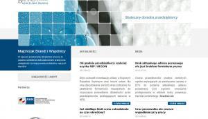Trzy serwisy internetowe kancelarii Majchrzak Brandt & Wspólnicy