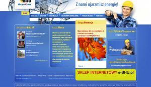 www.bhu.com.pl - strona sieci hurtowni elektrotechnicznych