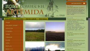 Strona internetowa Koła Łowieckiego ARTEMIDA