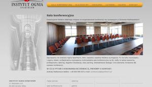 Sala konferencyjna Instytutu Ognia Spartherm